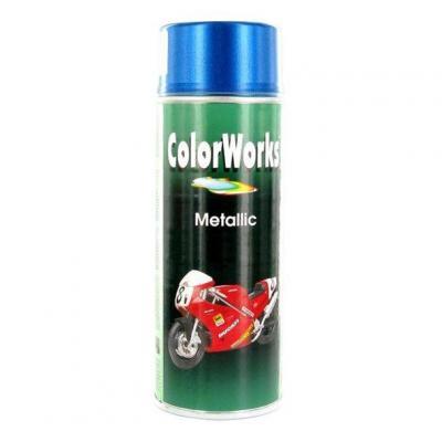 Bombe peinture bleu Métallique Motip 400ml