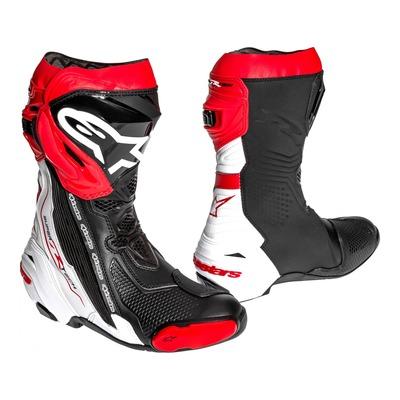 Bottes Alpinestars Supertech R noir/blanc/rouge