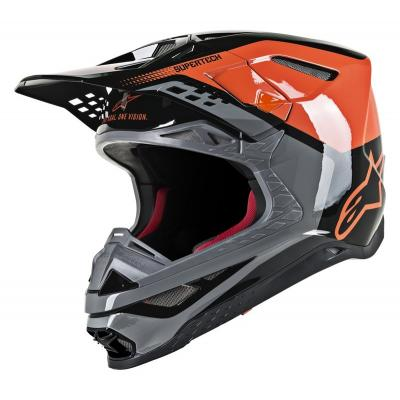 Casque cross Alpinestars Supertech S-M8 Tripple orange/gris/noir