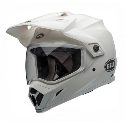 Casque intégral Bell MX 9 Adventure Mips Gloss blanc