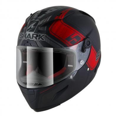 Casque intégral Shark Race-R Pro Réplica Zarco GP de France Mat noir/anthracite/rouge