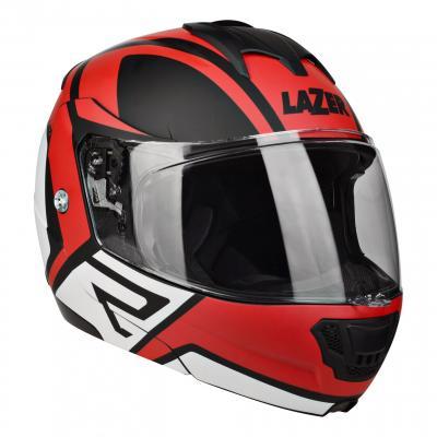 Casque modulable Lazer Lugano Z-Generation noir/rouge/blanc