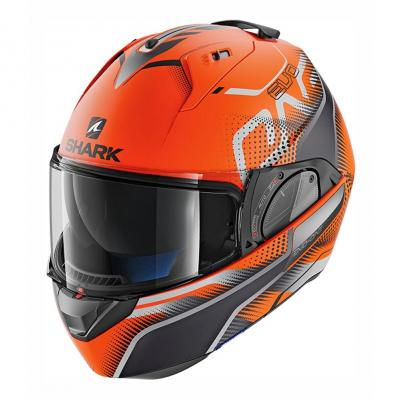 Casque modulable Shark Evo-One 2 Keenser Mat orange/noir/anthracite