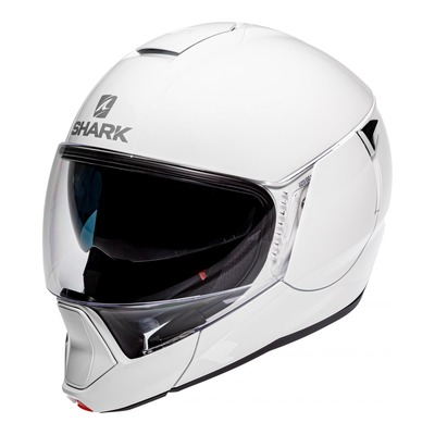 Casque modulable Shark Evojet Blank blanc