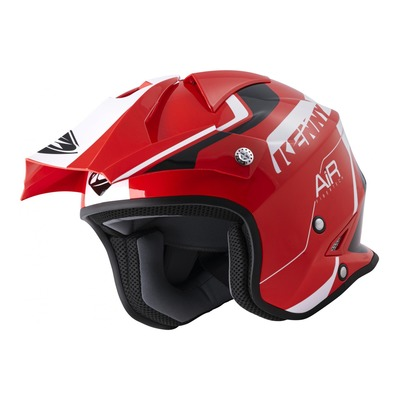 Casque trial Kenny Trial Air Graphic rouge/blanc brillant 2022