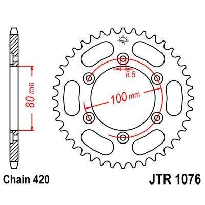 Couronne JT Sprockets Acier pas 420 52 dents - Pour Rieju Spike 50 03-05
