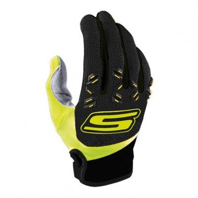 Gants cross S-Line Mx cross US tactile CE noir/jaune