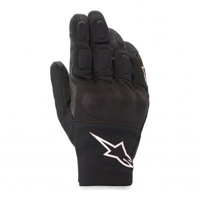 Gants cuir/textile Alpinestars S-Max Drystar noir/blanc