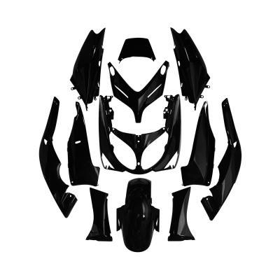 Kit carrosserie 12 pièces noir brillant adaptable T-max 500 2004>2007