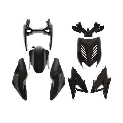 Kit carrosserie 8 pièces noir brillant adaptable Nitro/Aerox