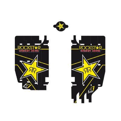 Kit déco de radiateur Blackbird Racing Rockstar Energy Suzuki 250 RM-Z 10-18 noir/jaune