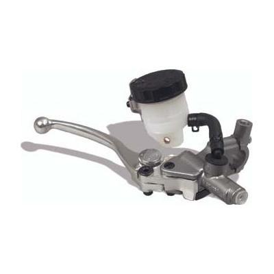 Maître cylindre de frein avant sport Nissin axial argent Ø 15,8 mm levier argent