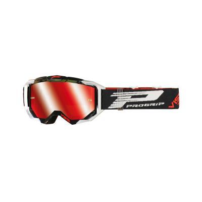 Masque cross Progrip 3303 FL Vista MX America blanc/noir écran miroir rouge
