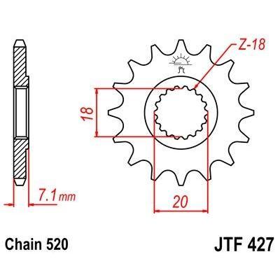 Pignon JT Sprockets Acier pas 520 12 dents - Pour Suzuki RM-Z 250 07-09