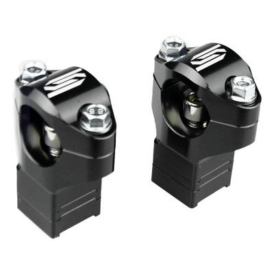 Pontets de guidon réglables Scar Ø28.6mm Husqvarna 85 TC 14-20 noir (sur té d'origine)