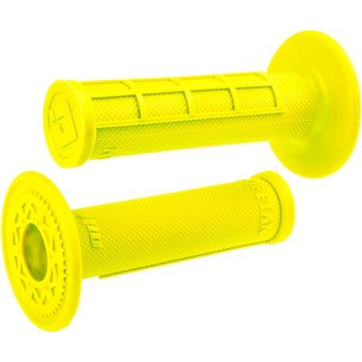 Revêtements de poignées ODI Ruffian Grips semi-gaufrés soft jaunes fluo