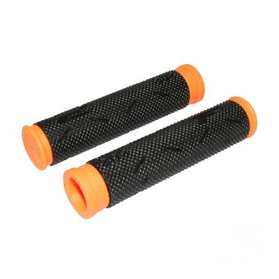 Revêtements de poignées vélo Progrip 808 noir/orange fluo