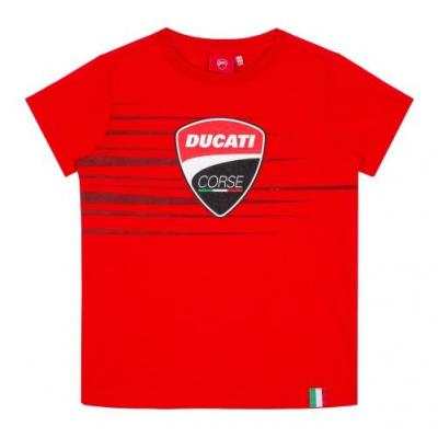 Tee-shirt enfant Ducati Corse Colection Logo and Stripes rouge