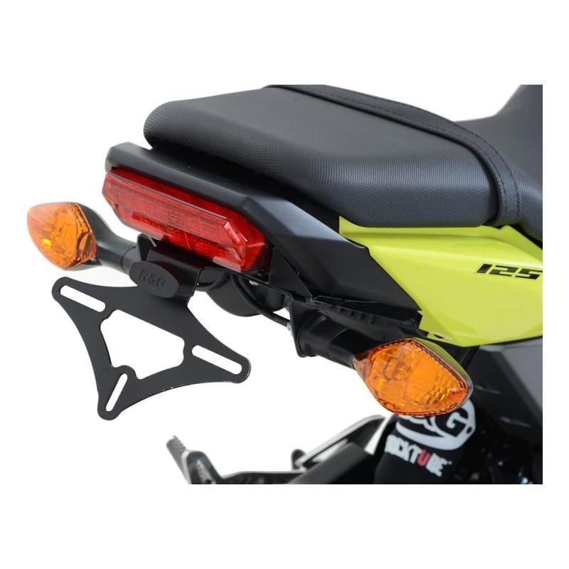 Support de plaque d'immatriculation R&G Racing noir Honda MSX 125 16-18 pour clignotants OEM