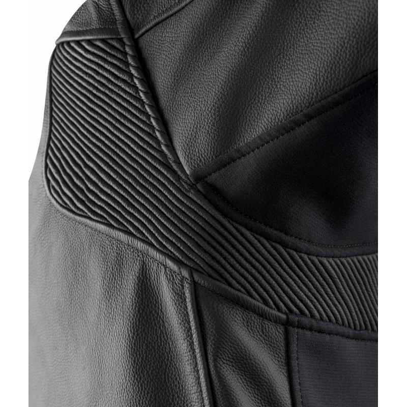Blouson cuir Ixon Sparrow noir/blanc - 2