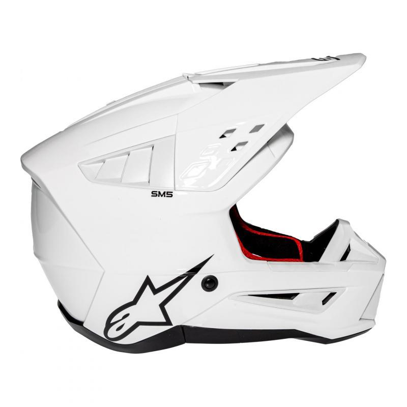 Casque cross Alpinestars S-M5 Solid blanc brillant - 2