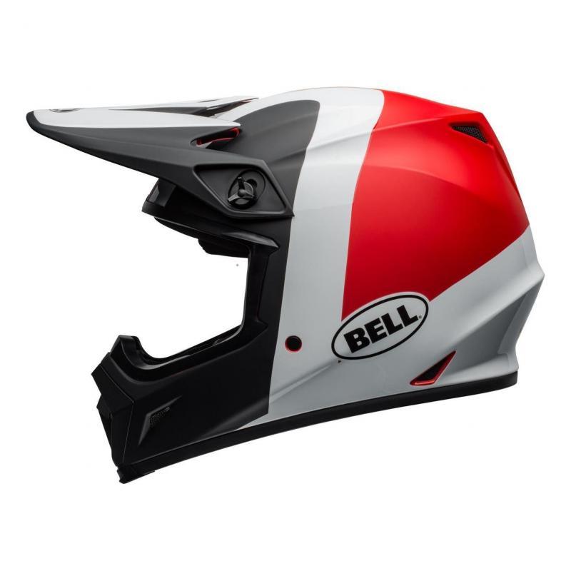 Casque cross Bell MX 9 Mips Presence noir/blanc/rouge - 1