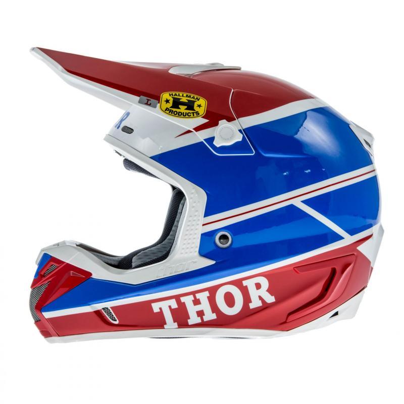 Casque Cross Thor Verge Pro Gp Bleu/Rouge - 1