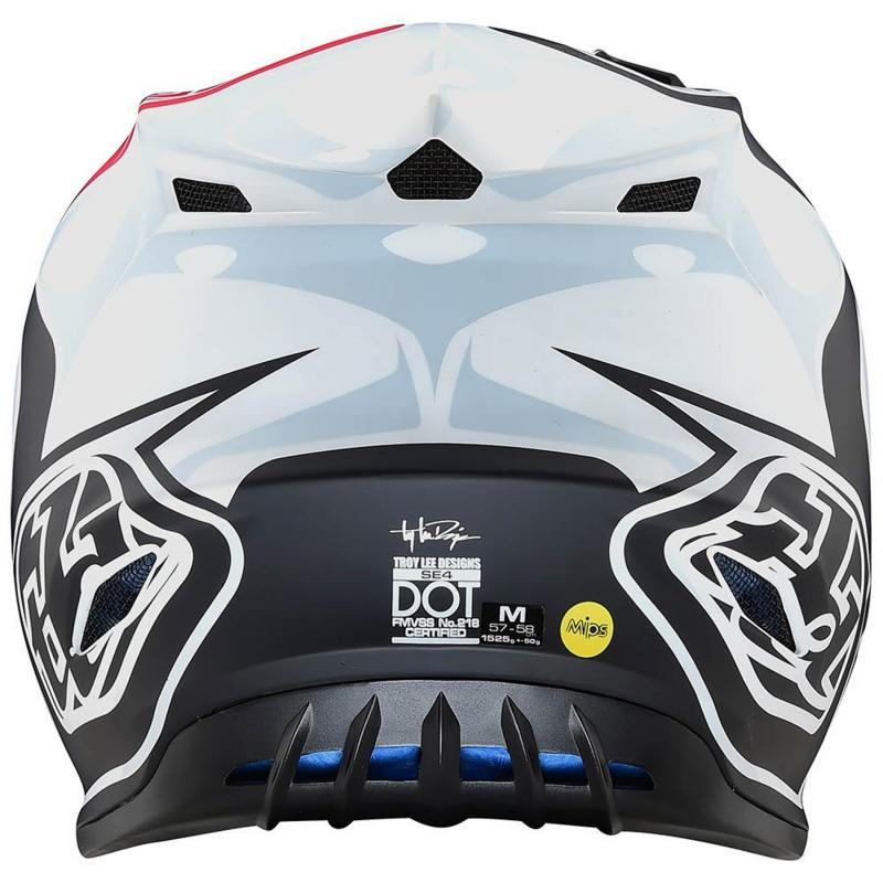 Casque cross Troy Lee Designs SE4 Polyacrylite Skully Mips blanc - 2
