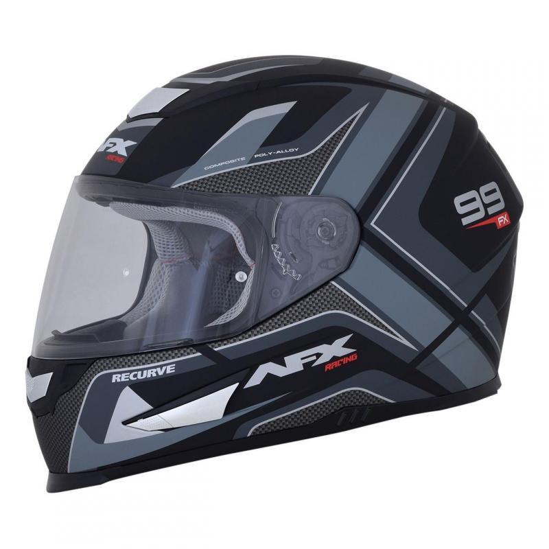Casque intégral AFX FX99 noir mat/gris - 5