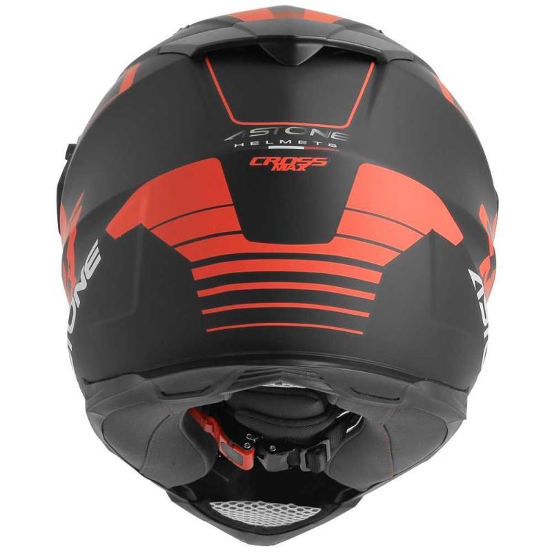 Casque intégral Trail Astone CROSSMAX ROAD noir/rouge fluo - 3