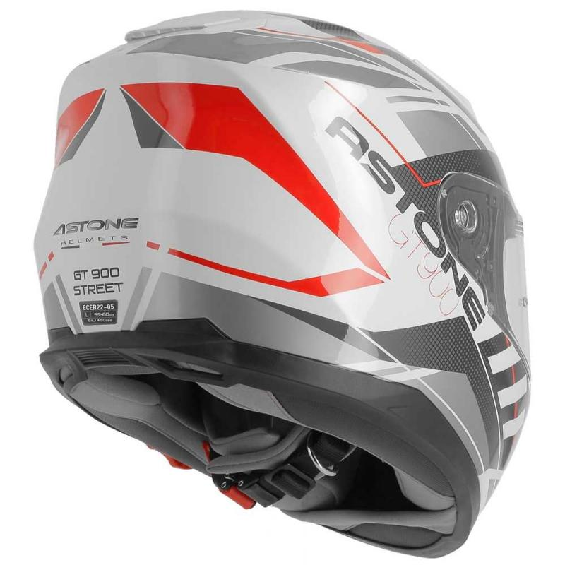 Casque intégral Astone GT900 exclusive STREET blanc/rouge - 4