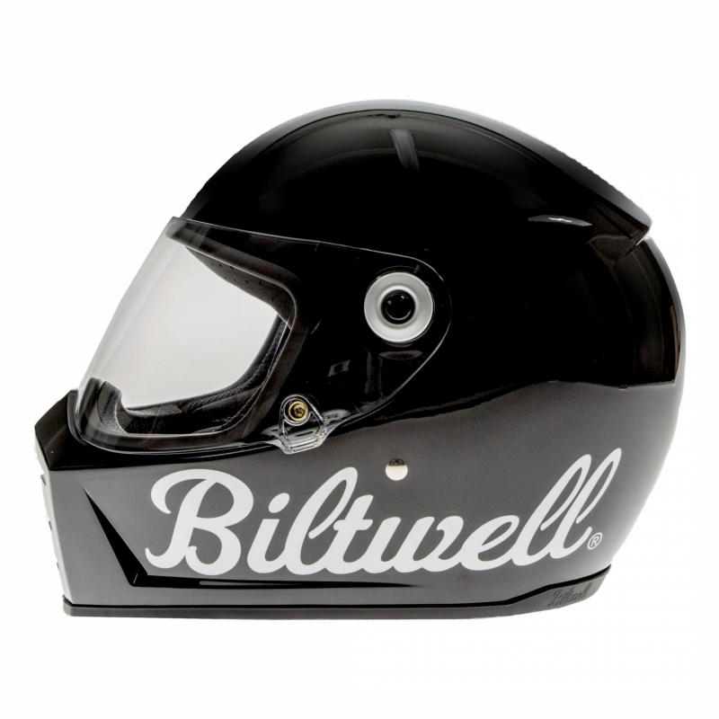 Casque intégral Biltwell Lane Splitter Factory noir brillant - 1