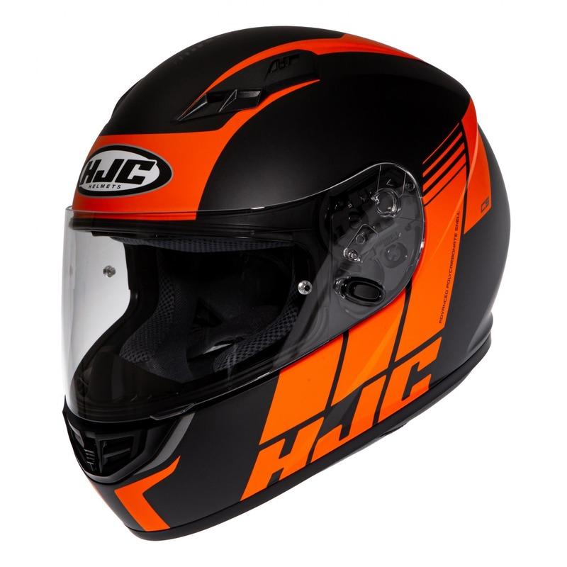 Casque intégral HJC CS-15 Mylo MC7SF orange/noir