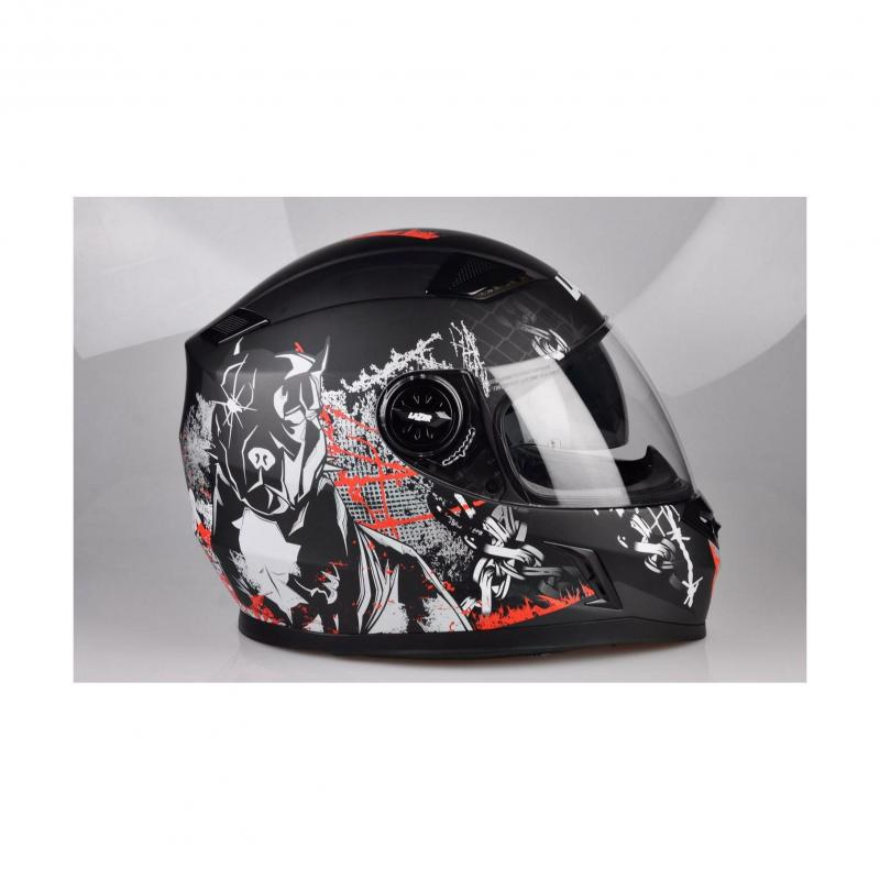 Casque intégral Lazer BAYAMO Pitbull 2 noir/rouge/blanc mat - 4