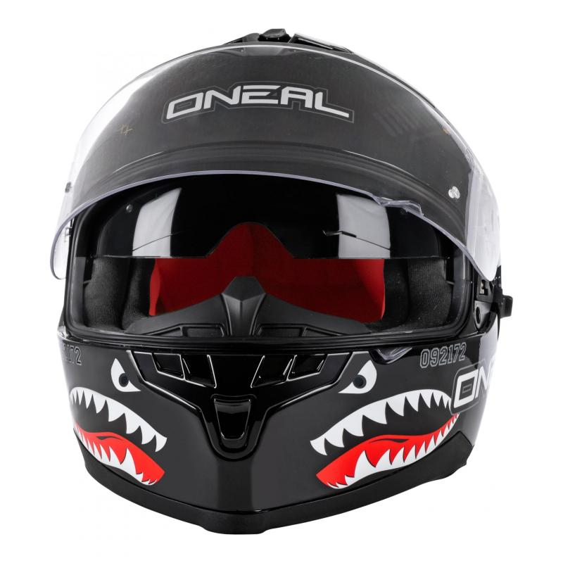 Casque intégral O'Neal Challenger Wingman Microlock noir - 2