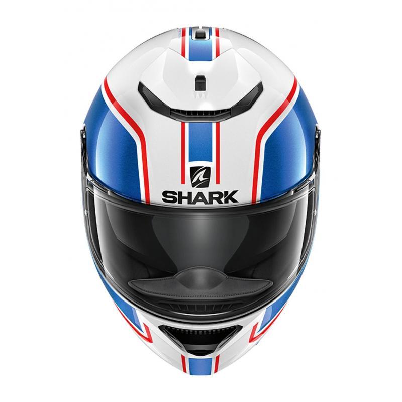 Casque intégral Shark Spartan 1.2 Priona blanc/bleu/rouge - 2