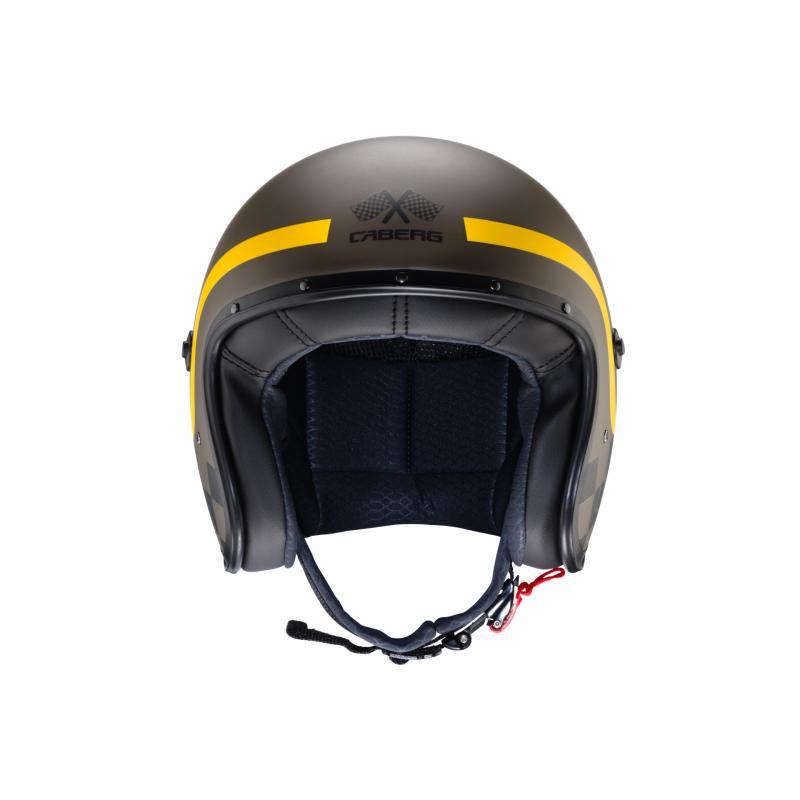 Casque jet Caberg Freeride Formula marron mat/jaune - 2