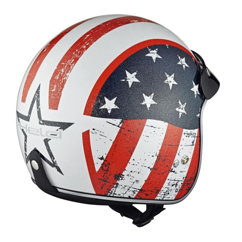 Casque jet Held BLACK BOB Design Flag blanc - 1