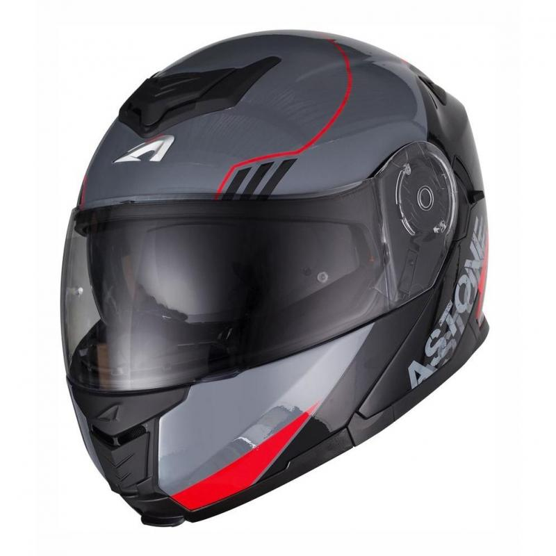 Casque modulable Astone RT 1200 graphic UPLINE rouge/gris