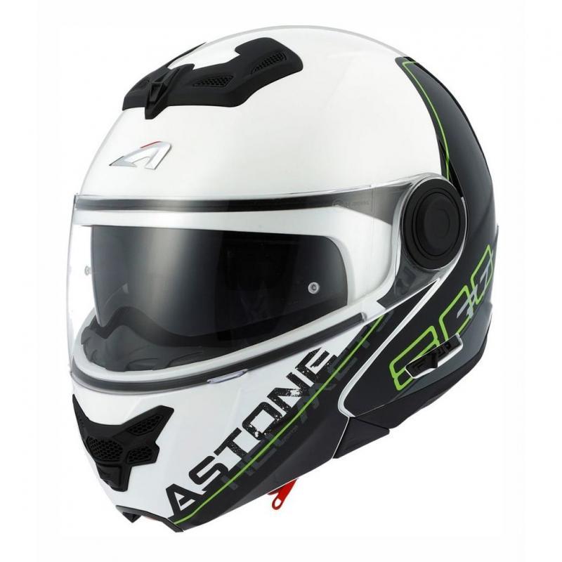 Casque modulable Astone RT800 graphic exclusive LINETEK vert/blanc