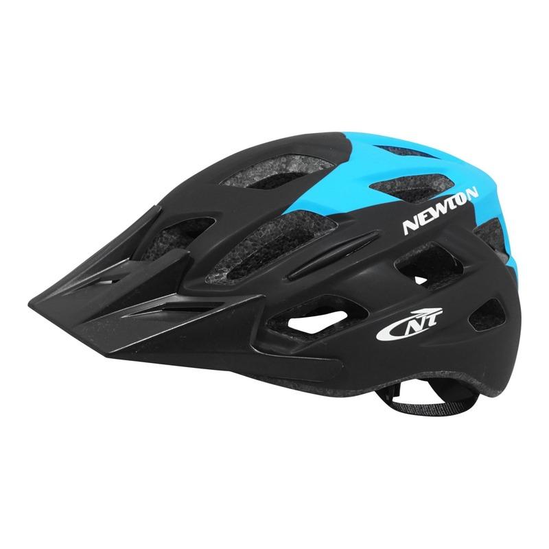Casque vélo city Newton Anecy + éclairage diodes incorporé bleu/noir mat