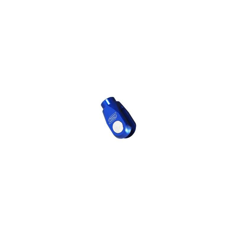Chape de frein arrière Scar en aluminium anodisé bleu pour Yamaha YZ 250 03-16