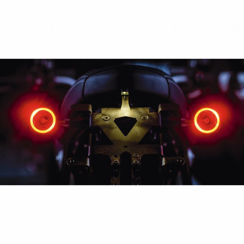 Clignotant LED Kellermann Bullet 1000 DF noir avec feu stop et feu arrière intégrés - 6