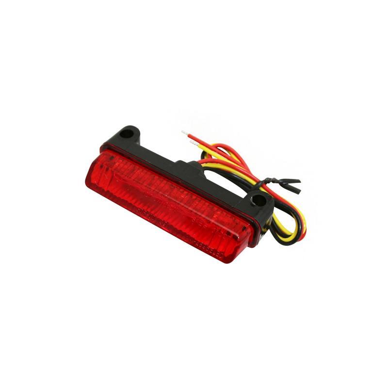 Feu arrière universel Replay à leds barette rouge/noir avec stop - 1