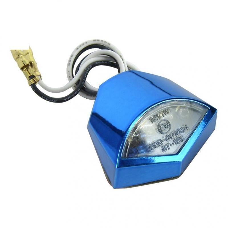 Feu éclairage de plaque homologué TNT hepta à leds bleu anodisé