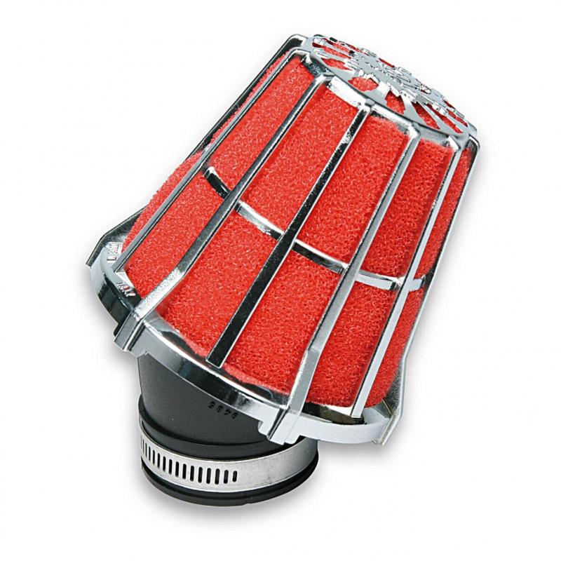 Filtre à air scoot Malossi ø28 rouge/chrome