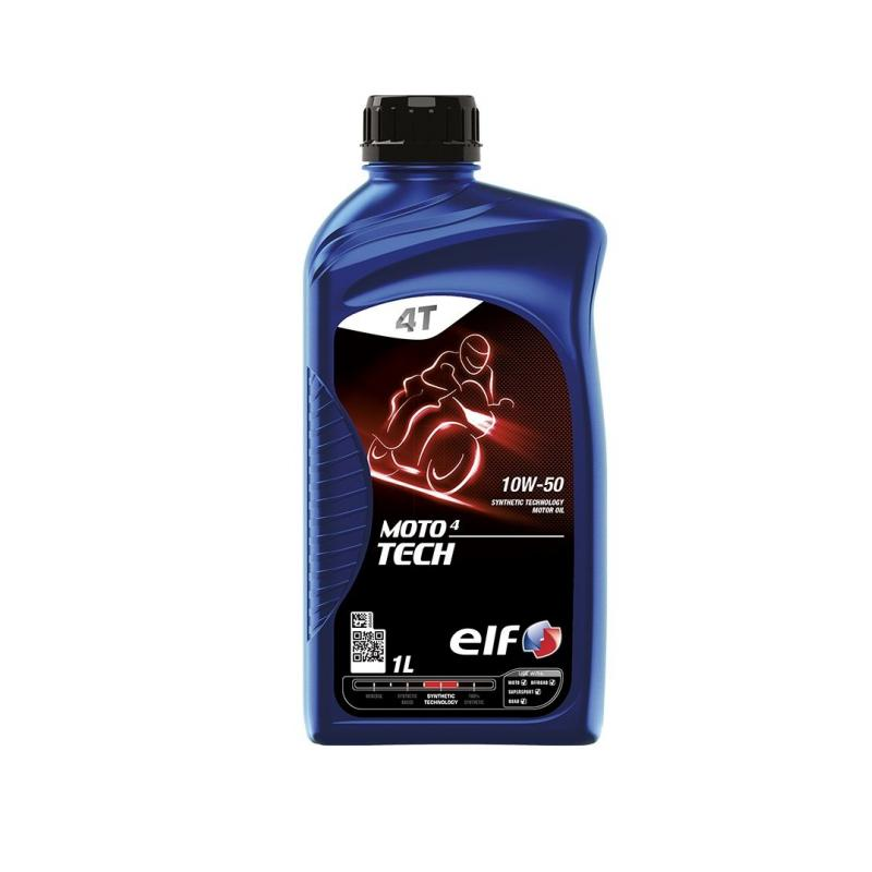 Huile moteur 4T ELF Moto 4 Tech Technologie Synthèse 10W50 1l