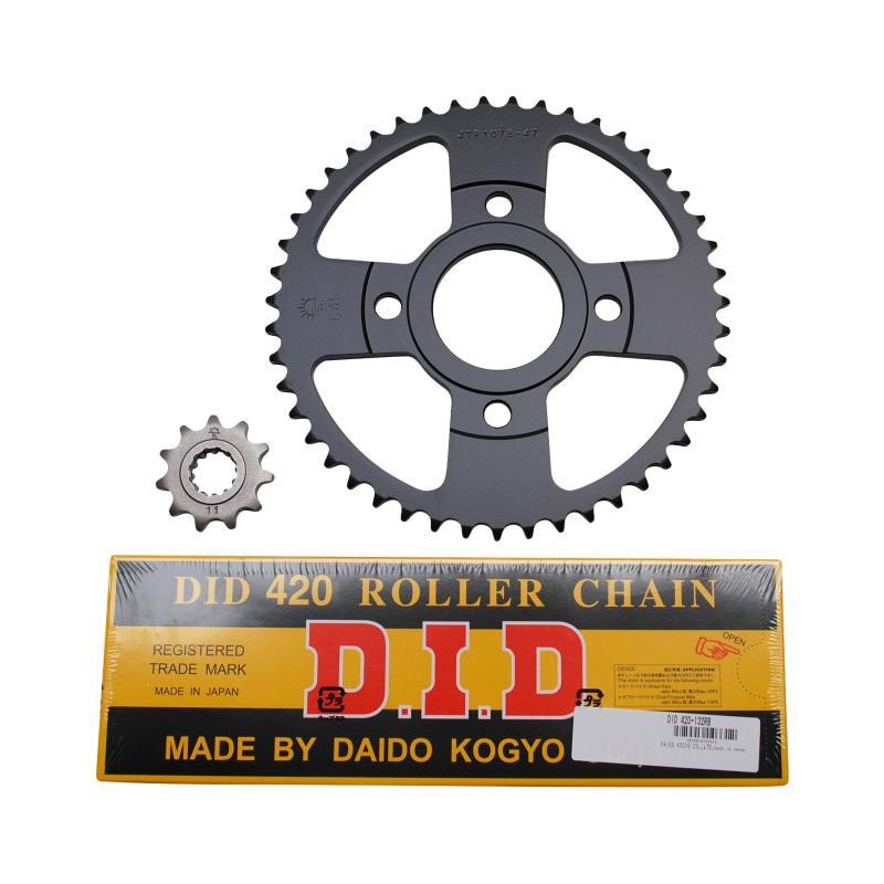 Kit chaîne DID pas 420 11x47 démultiplication d'origine adaptable Xpower/TZR 2003>2006