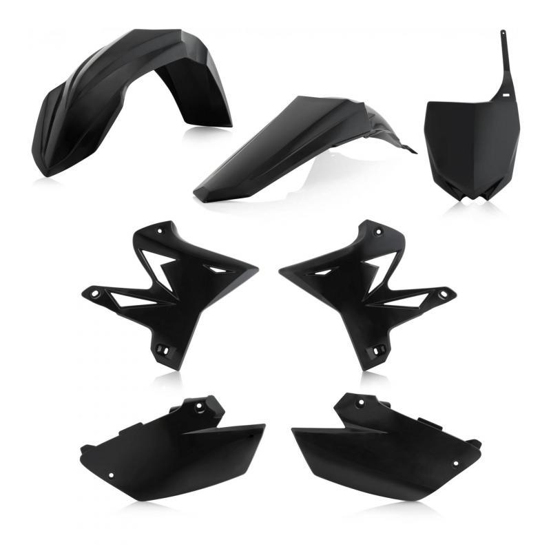 Kit plastique Acerbis Yamaha 125 YZ 02-14 noir (restylé)