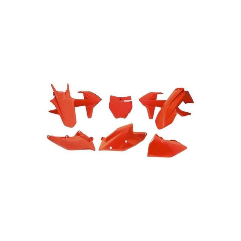 Kit plastique RTech KTM 250 SX 17-18 orange (Full orange Factory Edition)